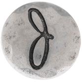 Hammered Letter Mini Snap Charm - J