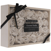 Coconut Vanilla Scented Soap Petals