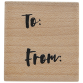 To & From Handwritten Rubber Stamp