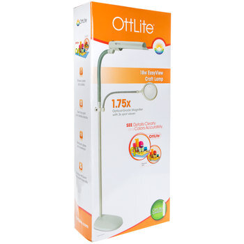 OttLite 18W EasyView Craft Lamp With Magnifier