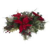 Poinsettia & Pine Centerpiece