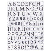 Traditional Alphabet & Numbers Clear Stamps