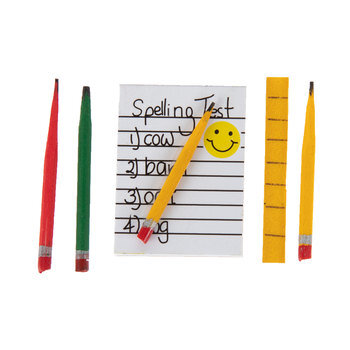 Miniature Notepad, Pencils & Ruler
