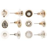 Teardrop & Medallion Earrings