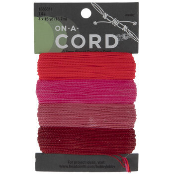Crimson, Neon Pink, Pink & Rose Waxed Brazilian Cord