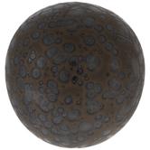 Gray & Copper Splatter Decorative Sphere