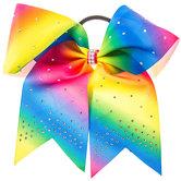 Rainbow Rhinestone Cheer Bow