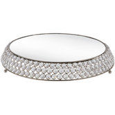 Round Mirror Top Cake Stand