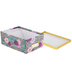 Floral Striped Photo Storage Box