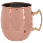 Copper Hammered Metal Mug