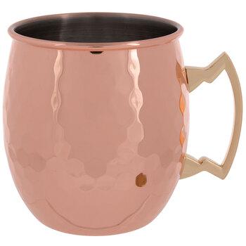 Copper Hammered Metal Mug