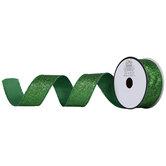 """Green Glitter Ribbon - 1 1/2"""""""