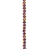 Rose Rondelle Glass Bead Strand