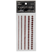 Red Round Rhinestone Border Stickers