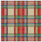 "Red & Tan Plaid Scrapbook Paper - 12"" x 12"""