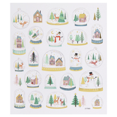Christmas Snow Globes Foil Stickers