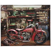 Indian Scout Motorcycle Canvas Wall Decor