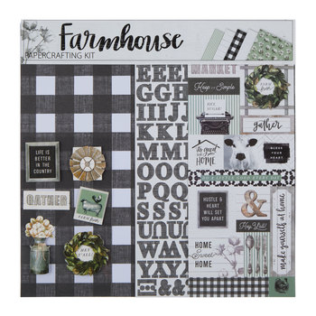 "Farmhouse Scrapbook Kit - 12"" x 12"""