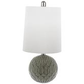 Green Trellis Ball Lamp