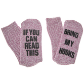 Pink Bring My Hooks Socks