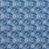 North Carolina Allover Collegiate Cotton Fabric