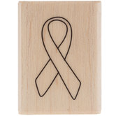 Awareness Ribbon Rubber Stamp