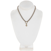 Lobster Clasp Focal Necklace - 18""