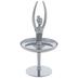 Silver Ballerina Metal Ring Jewelry Holder