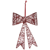 Red Glitter Vine Bow