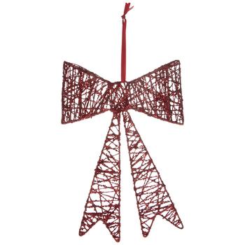 Red Glitter Vine Bow