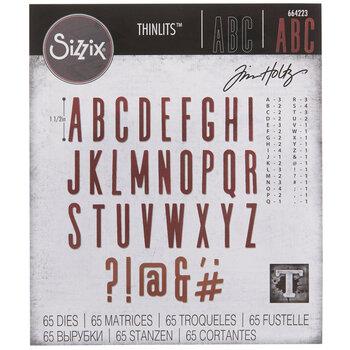 Sizzix Thinlits Alphanumeric Classic Upper Dies