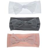 Pink, Gray & White Knot Headbands