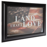 Land That I Love Framed Wall Decor