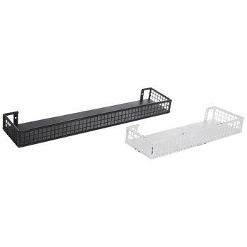 Distressed Metal Wall Shelf Set