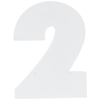 """White Wood Numbers 2 - 2"""""""
