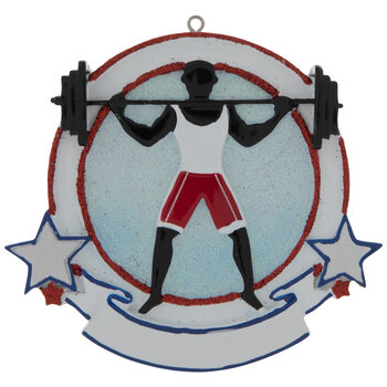 Weightlifter Personalized Ornament