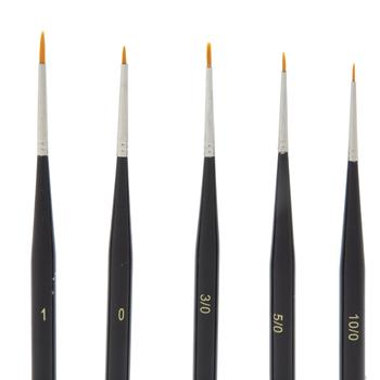 Hobby Paint Brushes - 5 Piece Set