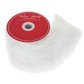"""White Faux Fur Trim - 4"""""""