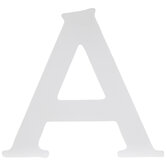 """White Wood Letter A -  6"""""""
