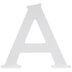 White Wood Letter A -  6