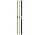 Yellow & Blue Clay Disc Bead Strands