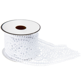 White Poly Venice Lace Trim - 1 7/8""