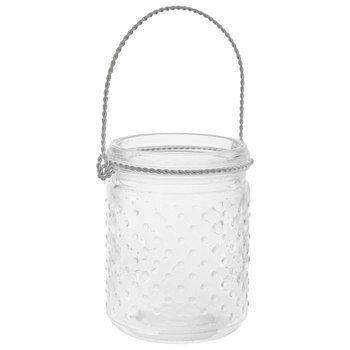Hobnail Glass Mason Jar - Small