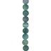 Green Matte Dyed Agate Round Bead Strand