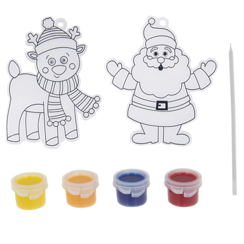 Santa & Reindeer Suncatchers Kit