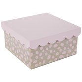 Pink Spotted Wood Box