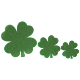 Green Glitter Four-Leaf Clover Cutouts