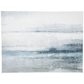 Abstract Blue Lines Canvas Wall Decor