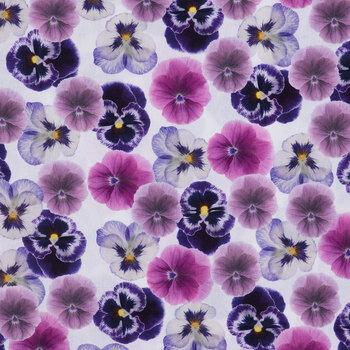 Pansies Cotton Calico Fabric
