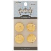 Gold Crest Shank Buttons - 16mm